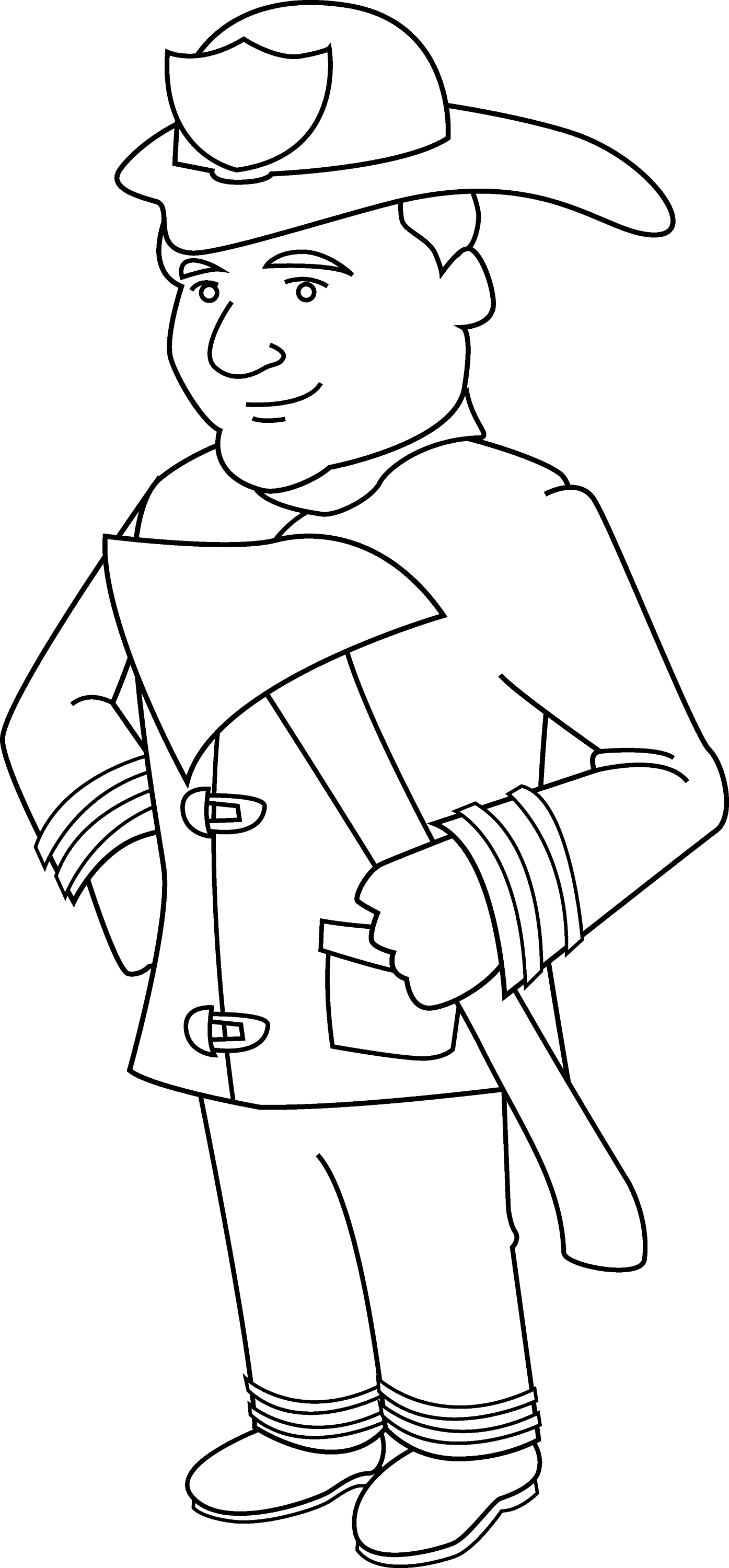 coloring fireman clipart black and white firefighter coloring pages getcoloringpagescom black fireman clipart white coloring and