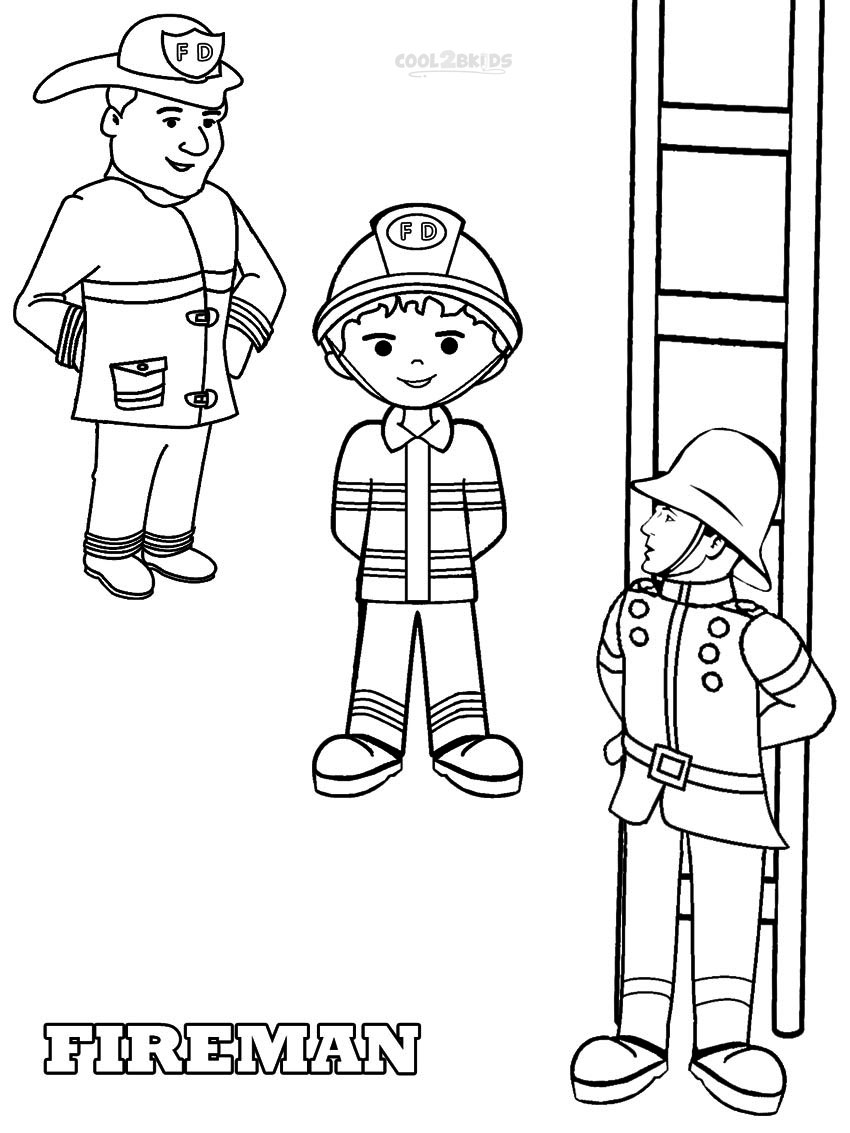 coloring fireman clipart black and white firefighter coloring pages getcoloringpagescom coloring fireman and clipart black white