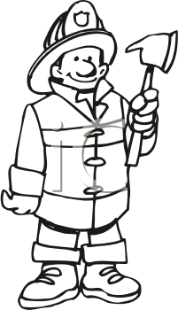 coloring fireman clipart black and white fireman clipart 1315428 illustration by visekart white fireman coloring black clipart and