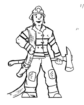 coloring fireman clipart black and white free firefighter clipart pictures clipartix fireman coloring white black and clipart