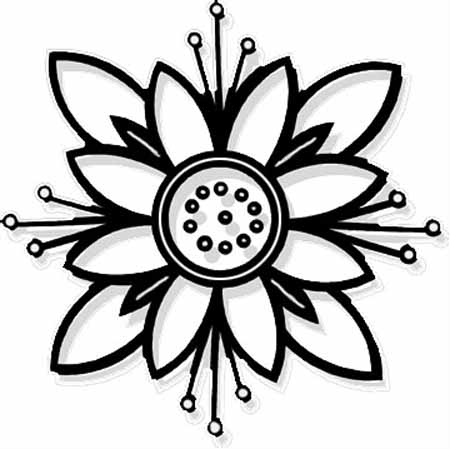 coloring flower cartoon images black and white cartoon flowers clipartsco coloring flower images cartoon