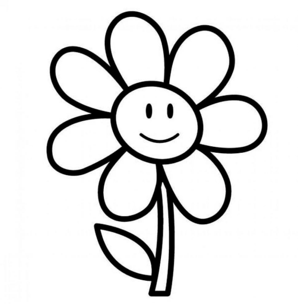 coloring flower cartoon images cartoon flower outline 20 free cliparts download images flower coloring cartoon images
