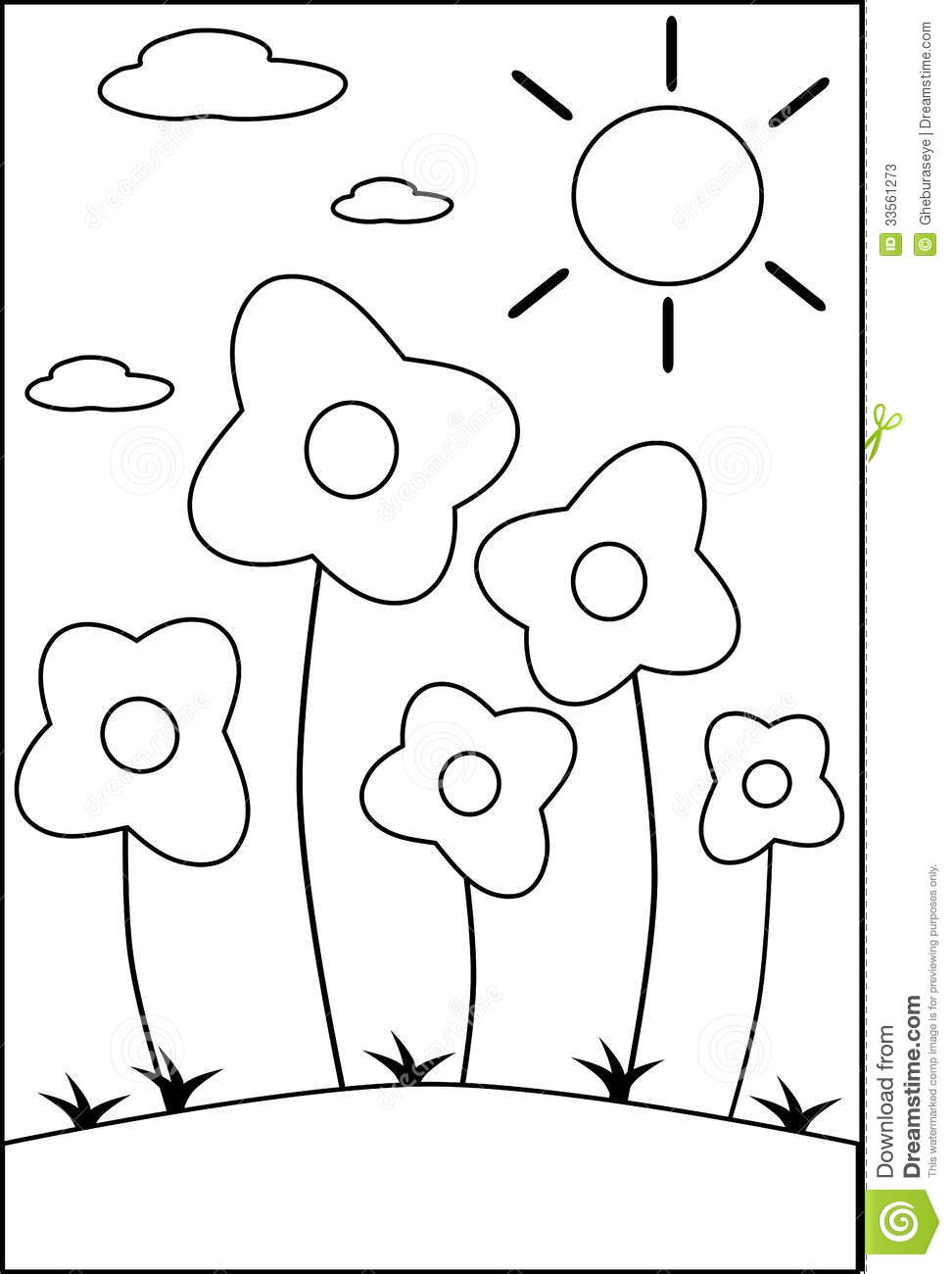 coloring flower cartoon images coloring flowers stock photos image 33561273 coloring flower images cartoon