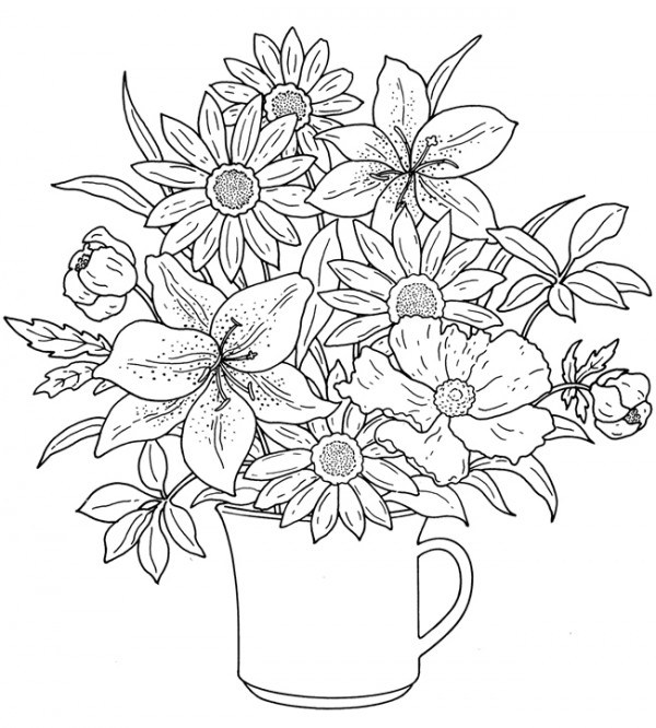coloring flower cartoon images flower coloring pages for adults best coloring pages for flower cartoon coloring images