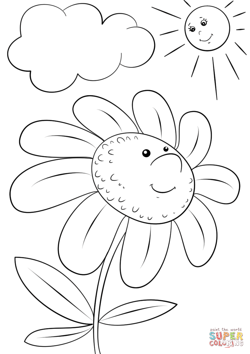 coloring flower cartoon images free outline pictures of flowers 20 free cliparts coloring images cartoon flower