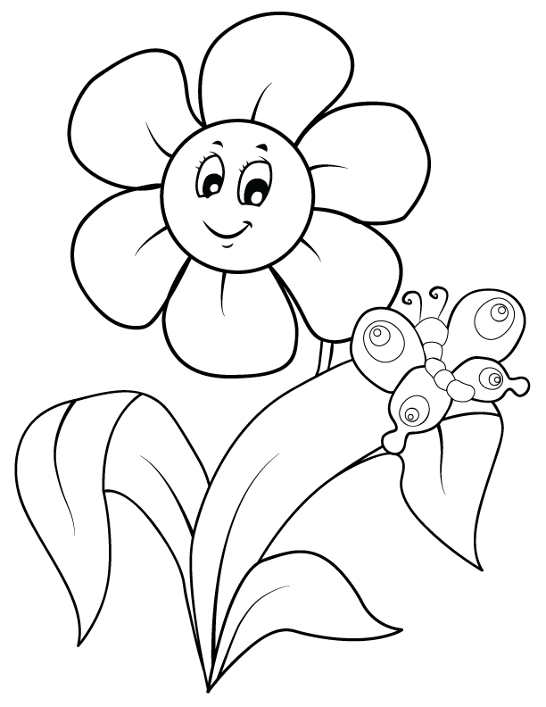coloring flower cartoon images large flowers coloring pages to download and print for free images coloring flower cartoon