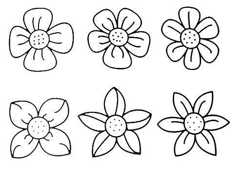 coloring flower cartoon images nine black and white cartoon flowers stock vector art flower cartoon coloring images