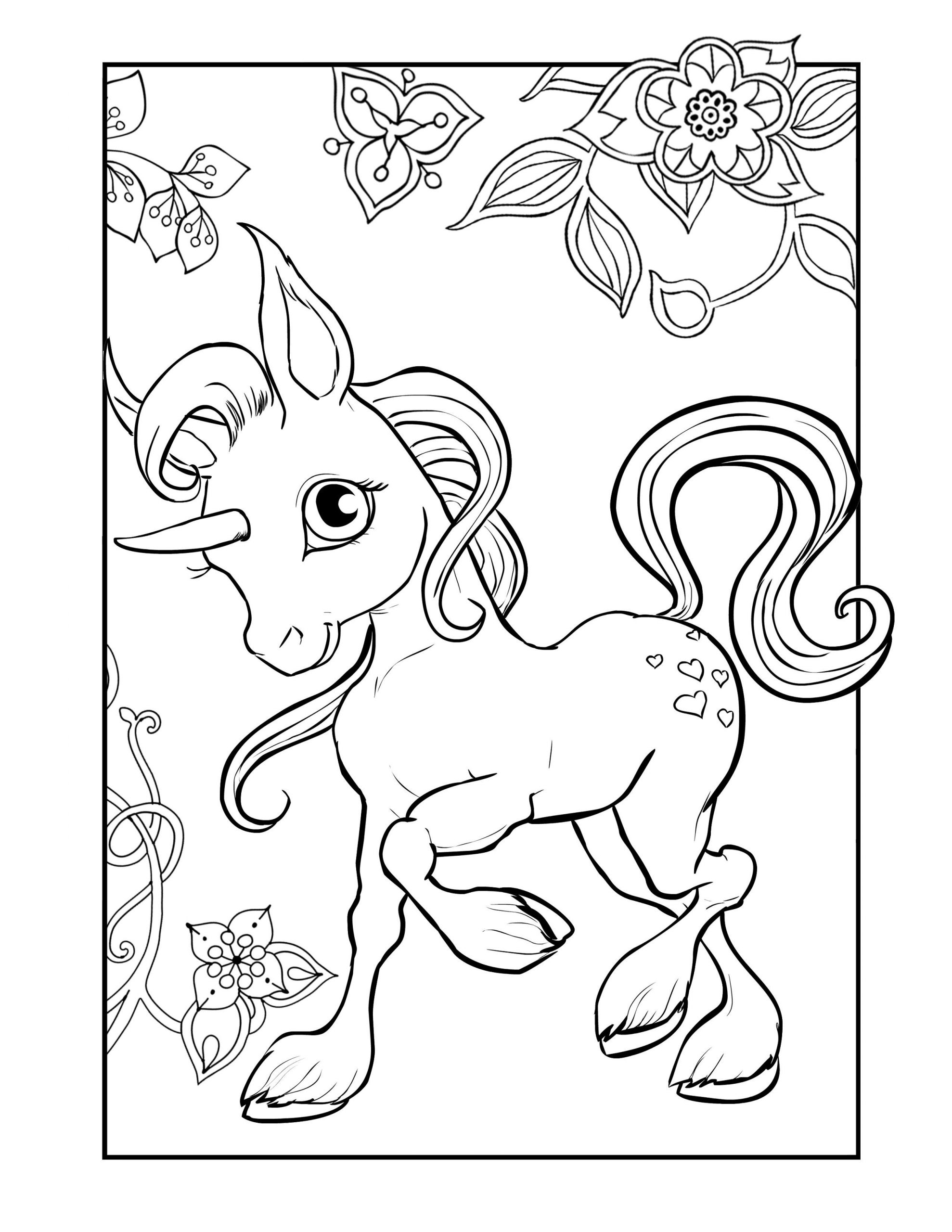 coloring for unicorn a magical unicorn a coloring page taianomainen for coloring unicorn