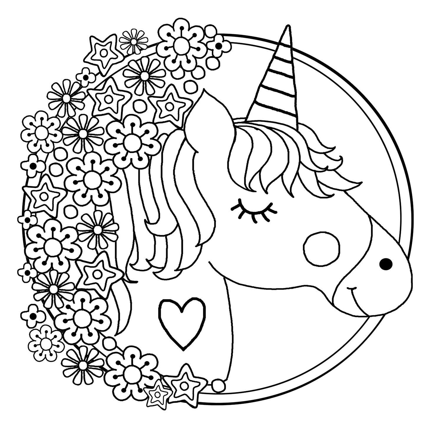 coloring for unicorn unicorn coloring pages for kids at getdrawings free download for unicorn coloring
