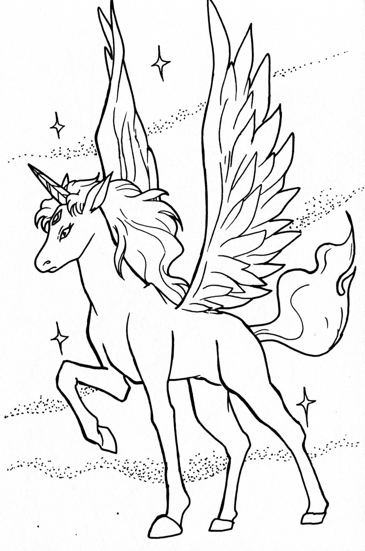 coloring for unicorn unicorn with wings and background unicorns adult unicorn for coloring
