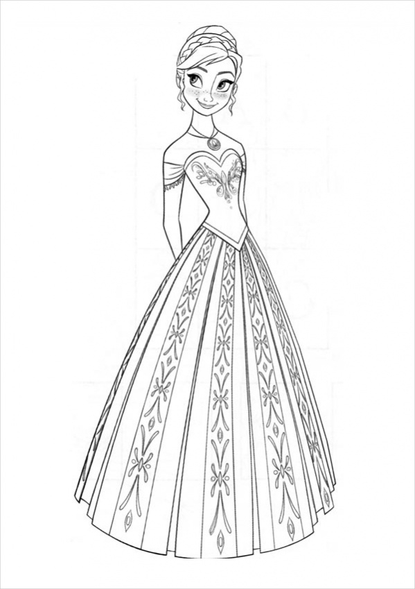 coloring frozen free 16 coloring pages in ai for girls in ai frozen coloring