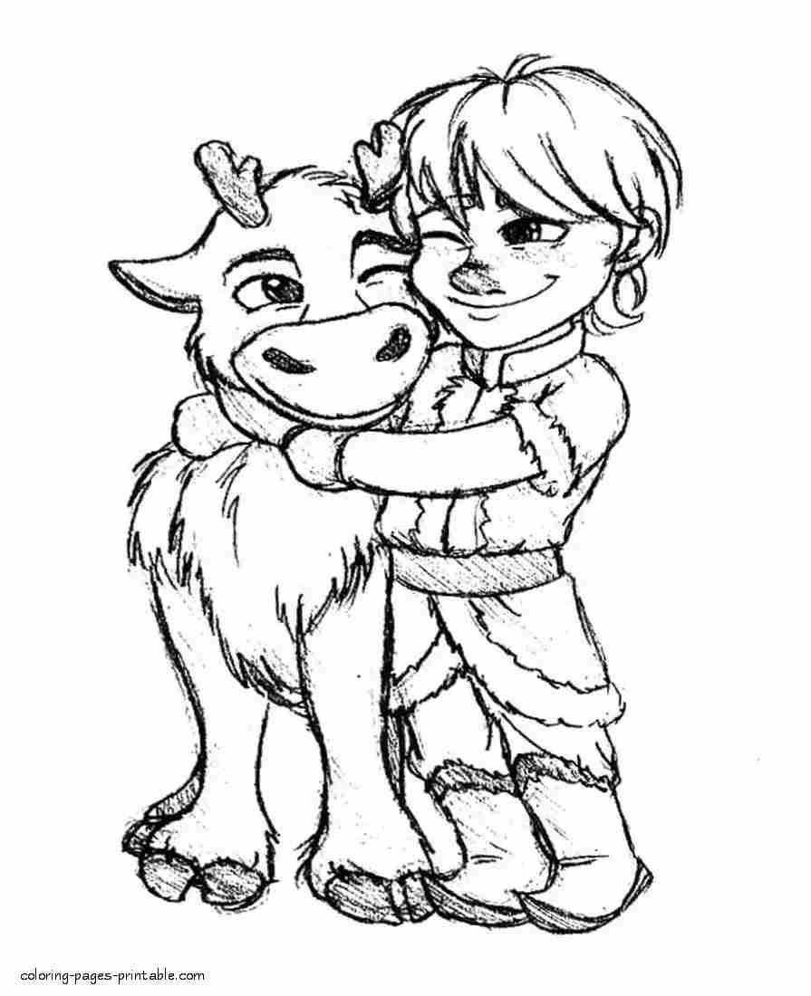 coloring frozen the best free sven coloring page images download from 106 frozen coloring