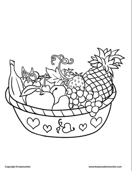 coloring fruits for nutrition month coloring pages for kids learning nutrition fruits for coloring nutrition month