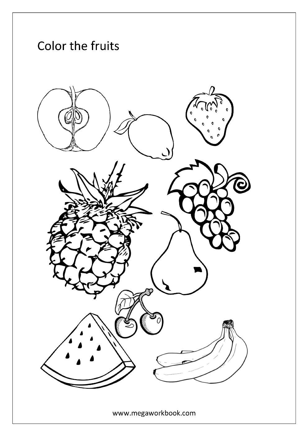 coloring fruits for nutrition month kids yoga lesson plans omazing kids kids nutrition food nutrition coloring fruits for month
