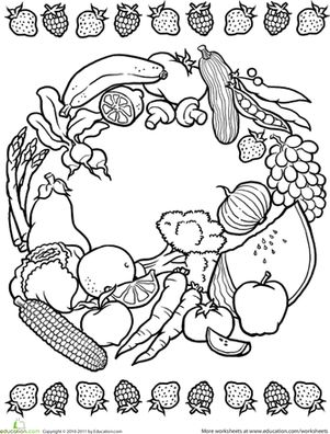 coloring fruits for nutrition month multilingual printables fruits and vegetables in 7 languages nutrition month fruits coloring for