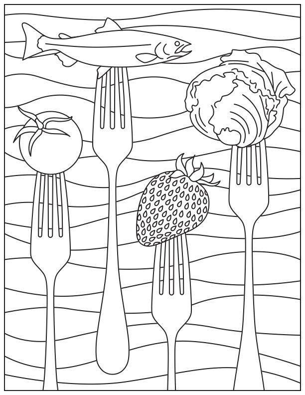 coloring fruits for nutrition month printable coloring page for national nutrition month nutrition month fruits for coloring