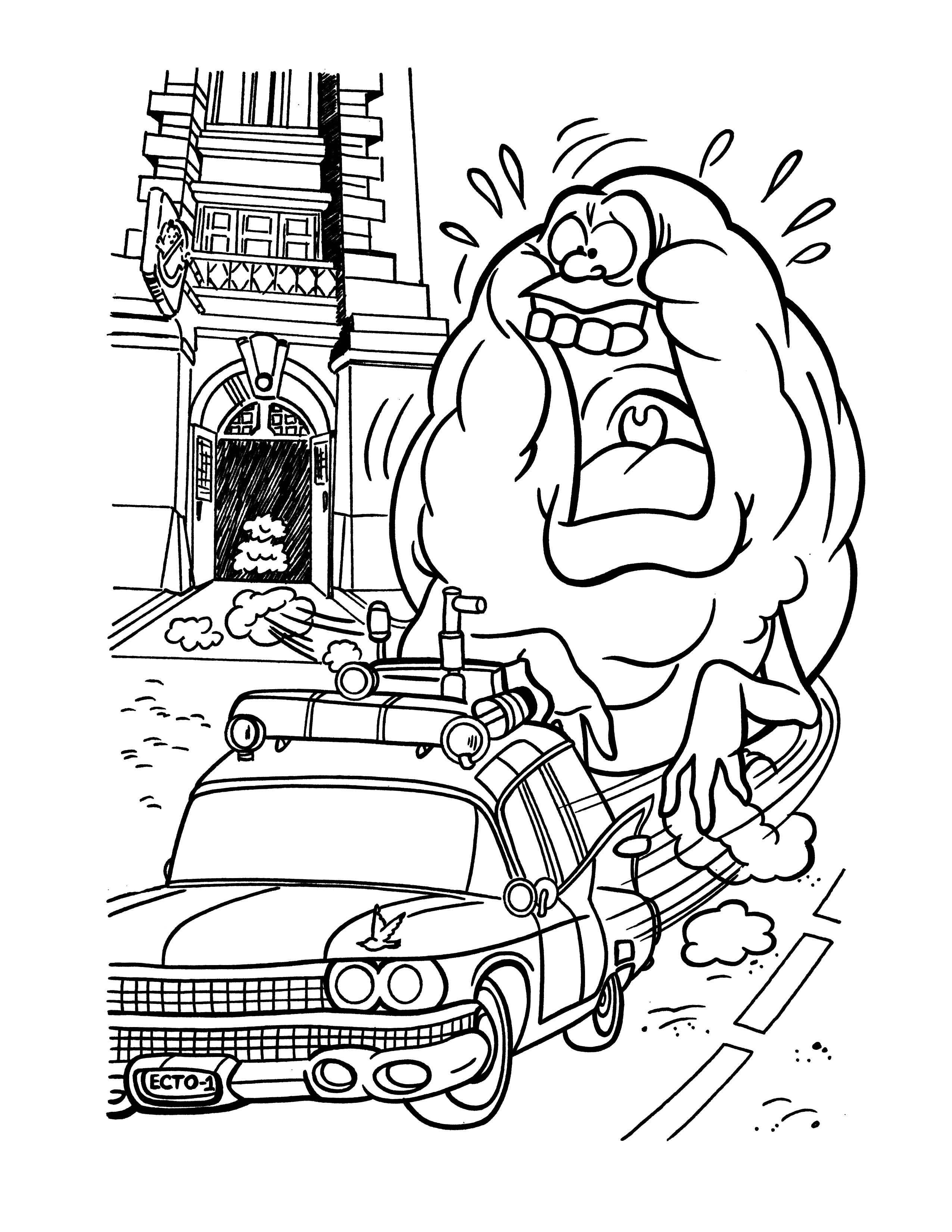 coloring ghostbusters slimer ghostbusters drawing at getdrawings free download coloring ghostbusters