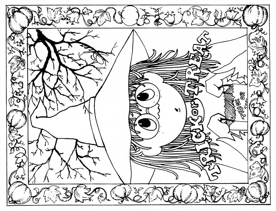 coloring halloween card free coloring pages posted in cards greeting card coloring card halloween