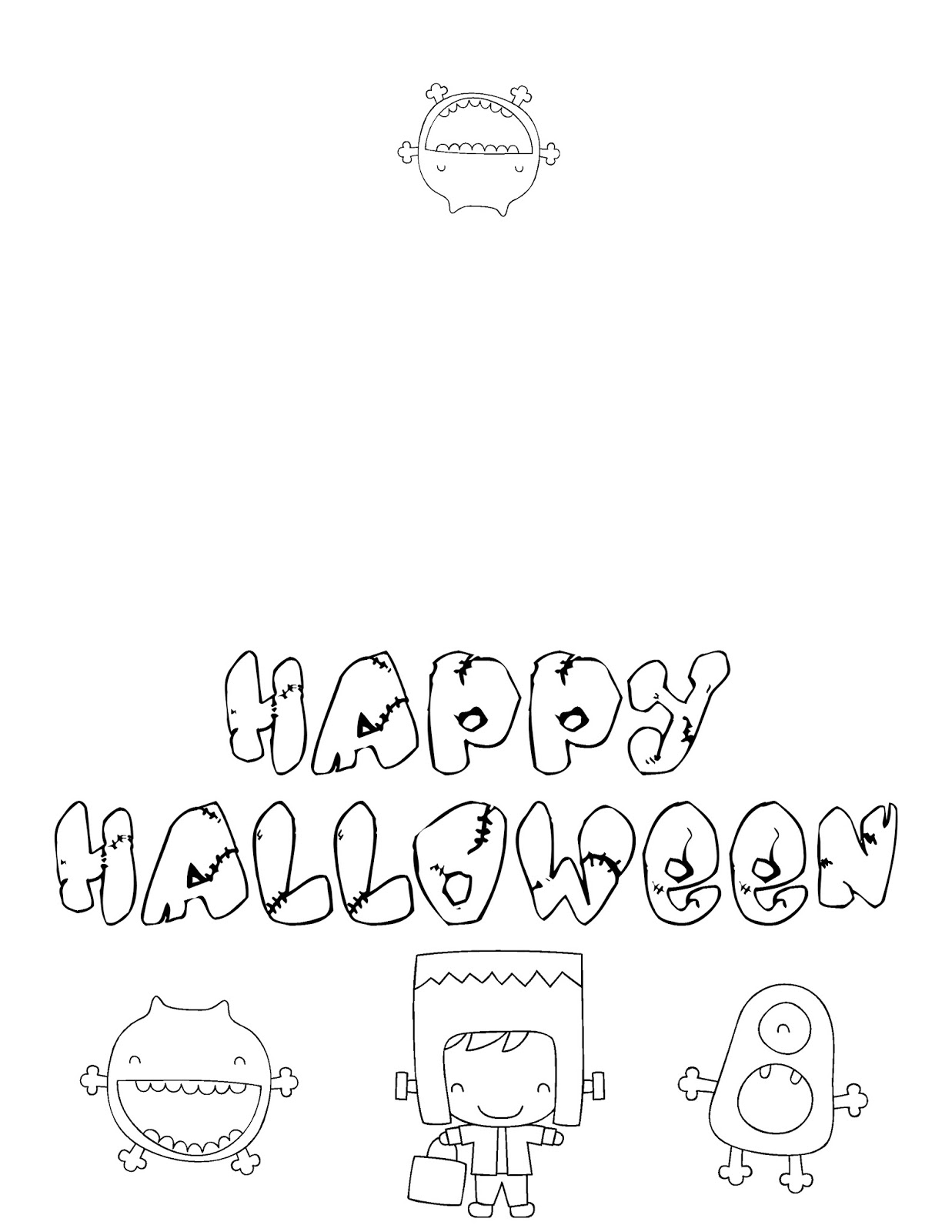 coloring halloween card free printable halloween cards create and print free halloween card coloring