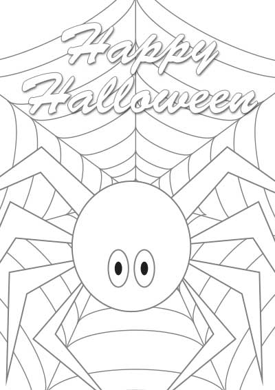 coloring halloween card free printable happy halloween cards funny halloween halloween card coloring