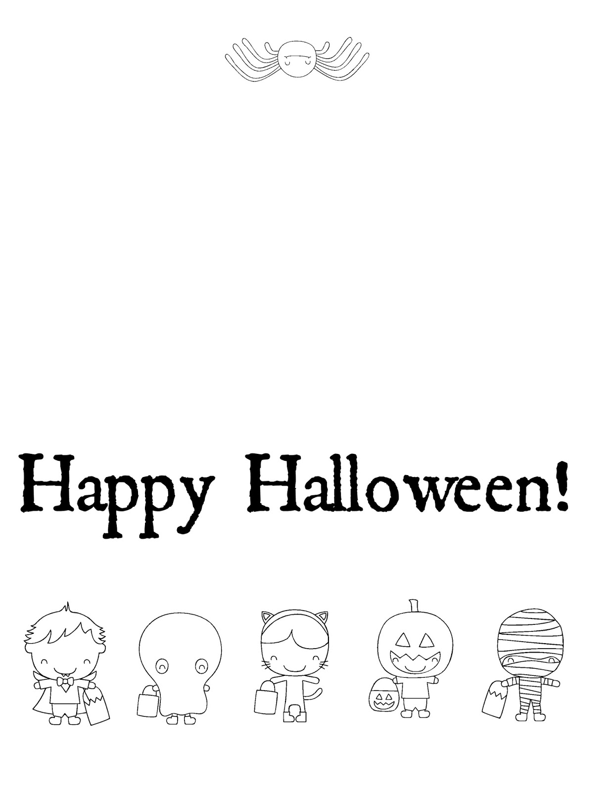 coloring halloween card halloween coloring pages getcoloringpagescom coloring halloween card
