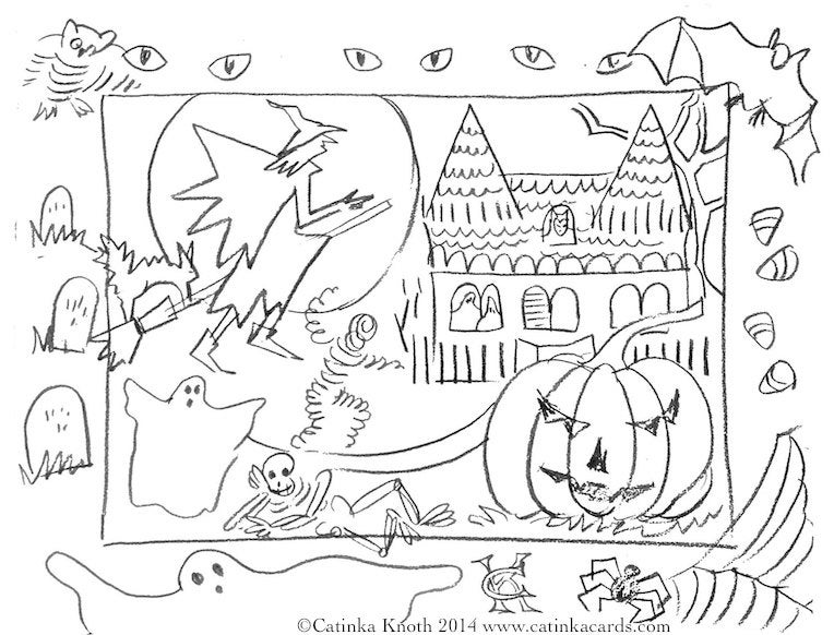 coloring halloween card halloween coloring pages to download and print for free card halloween coloring