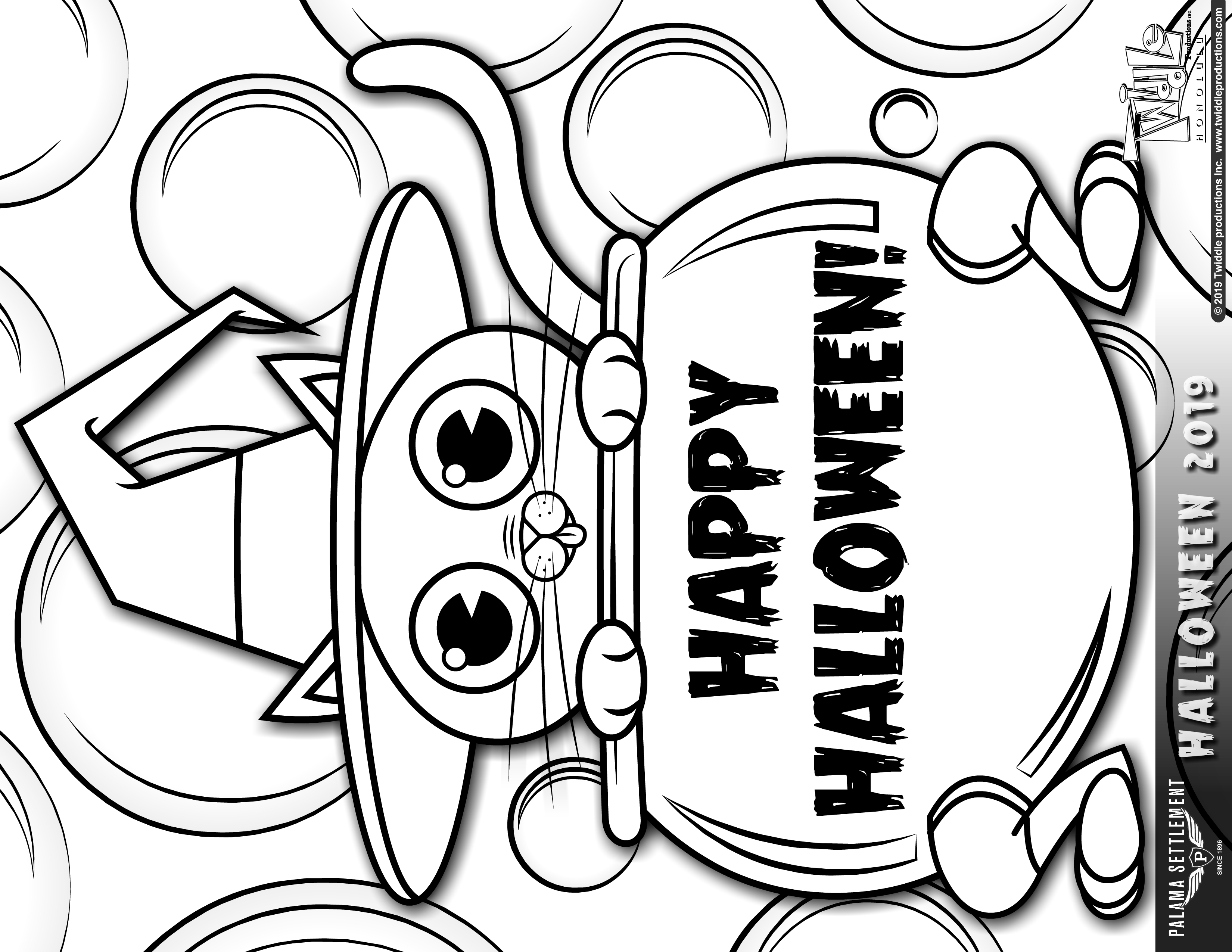 coloring halloween card halloween printable coloring note card digital download pdf coloring halloween card