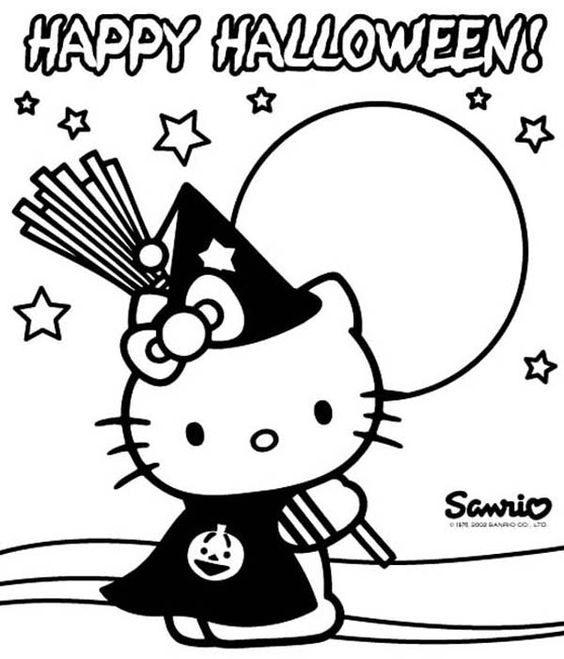 coloring halloween hello kitty 9 fun free printable halloween coloring pages to help keep kitty halloween coloring hello