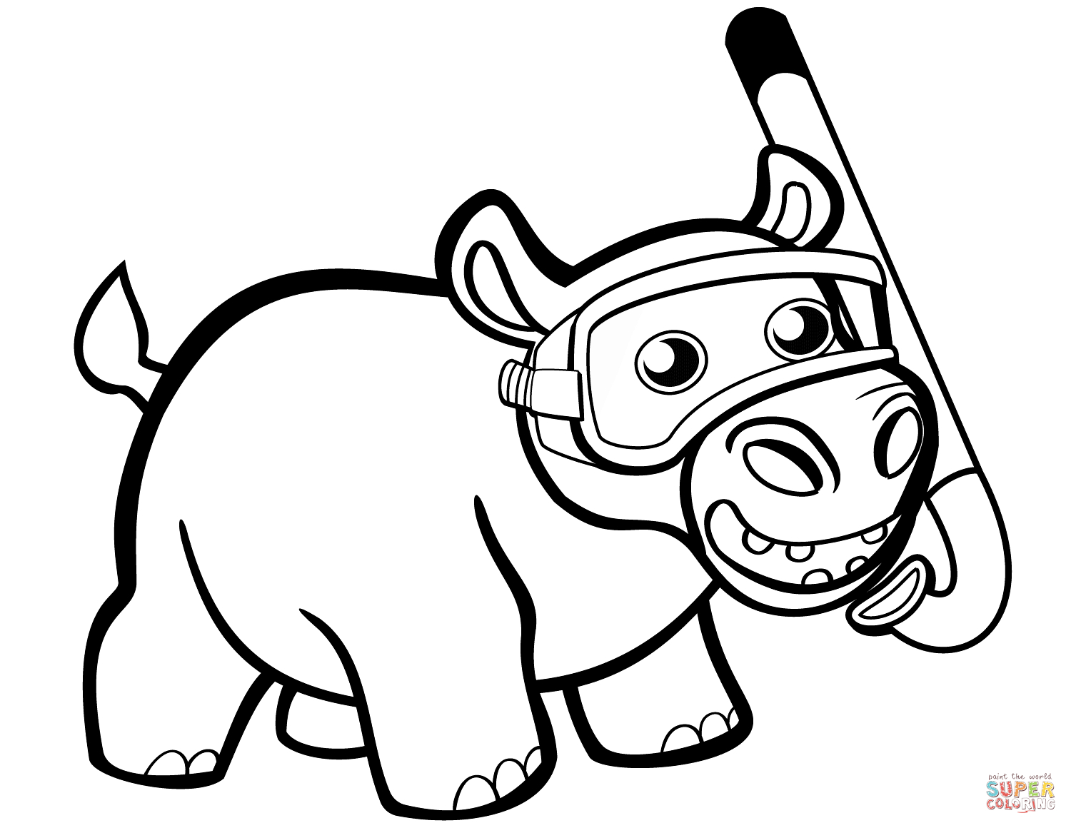 coloring hippo clipart cartoon hippo drawing at getdrawings free download coloring clipart hippo