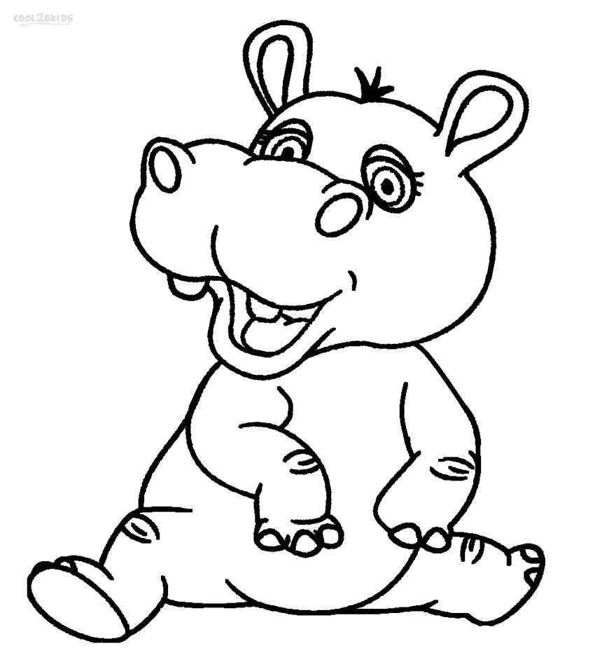 coloring hippo clipart hippo coloring pages for kids coloring pages for kids coloring hippo clipart