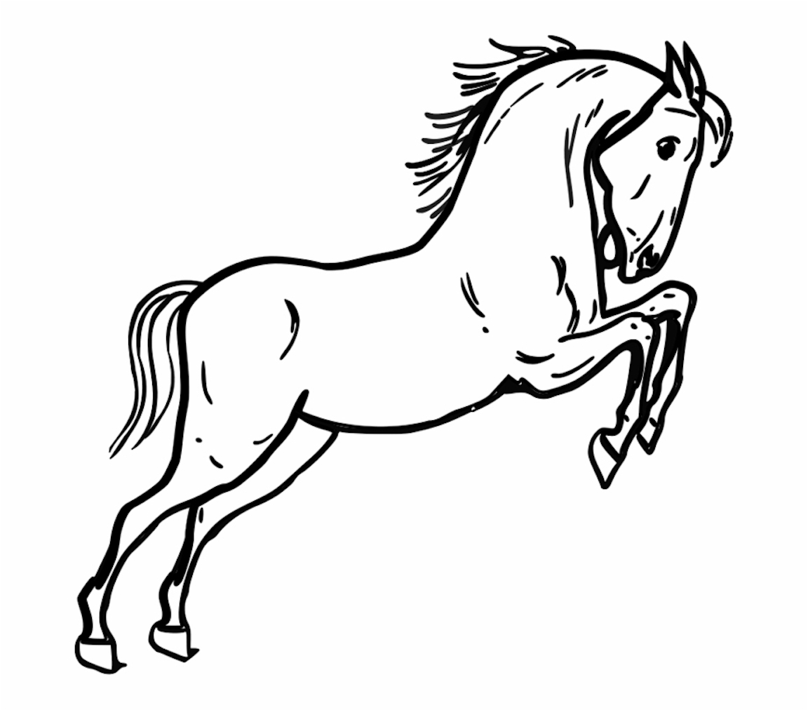 coloring horse clipart cartoon horses coloring pages coloring clipart horse