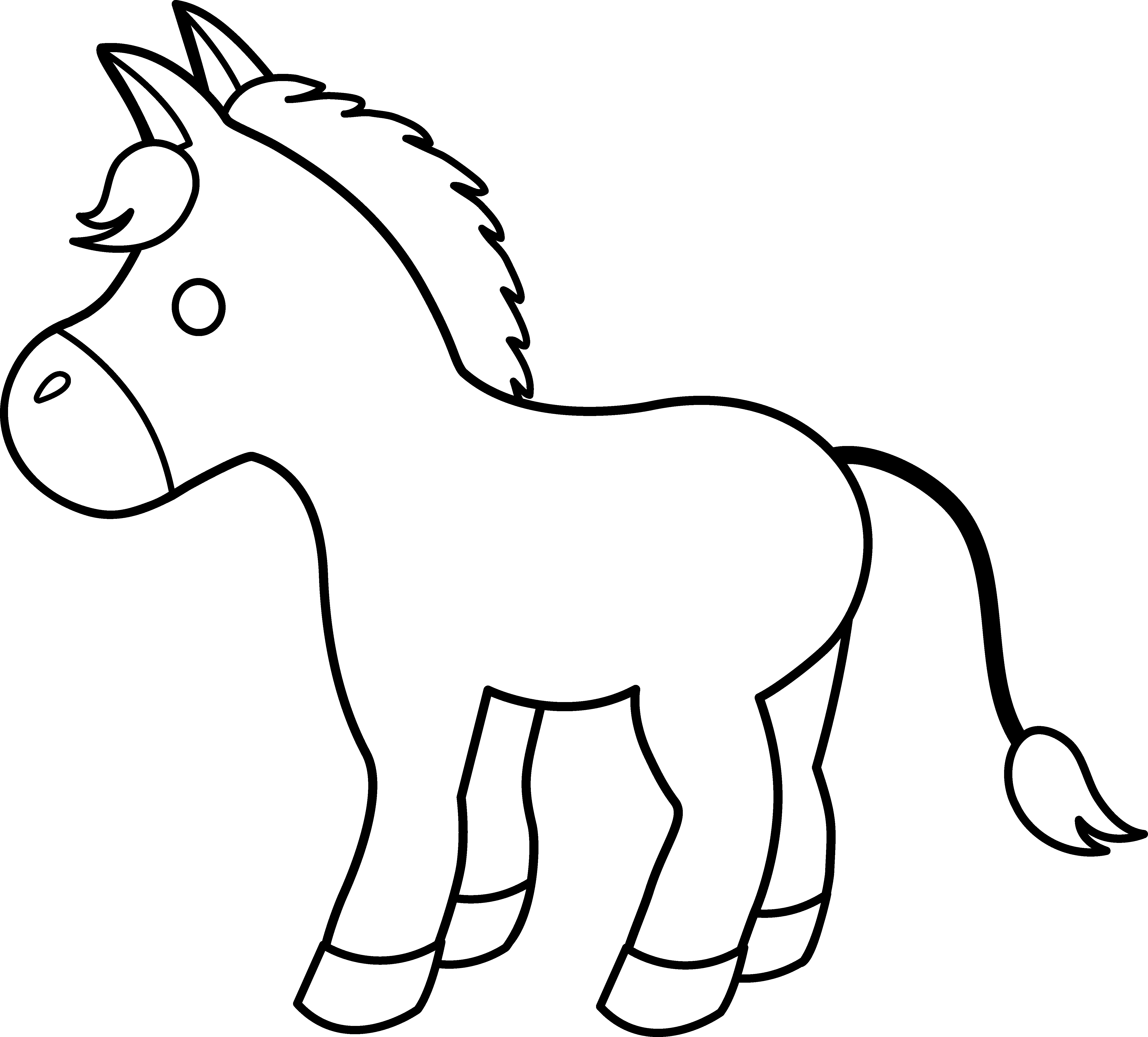 coloring horse clipart free free images of horses download free clip art free horse coloring clipart