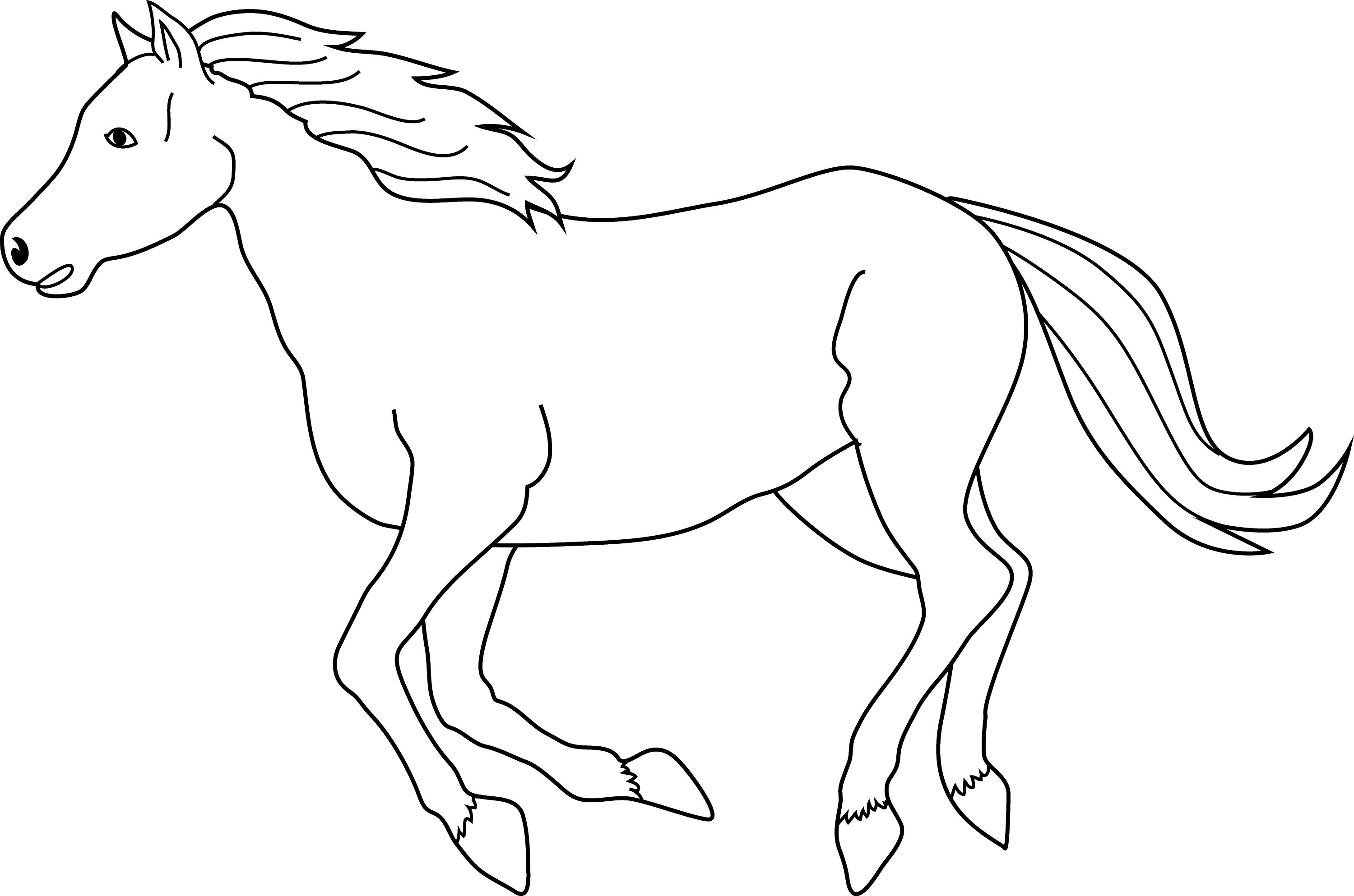 coloring horse clipart horse coloring book free clipart best clipart coloring horse