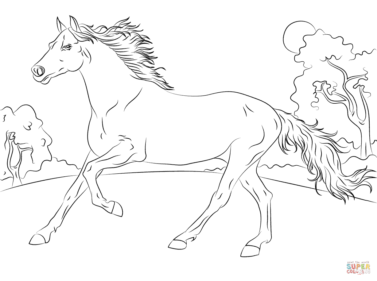 coloring horses printable horse coloring pages preschool and kindergarten printable horses coloring