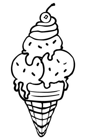 coloring ice cream printables ice cream cone coloring page at getcoloringscom free cream printables coloring ice