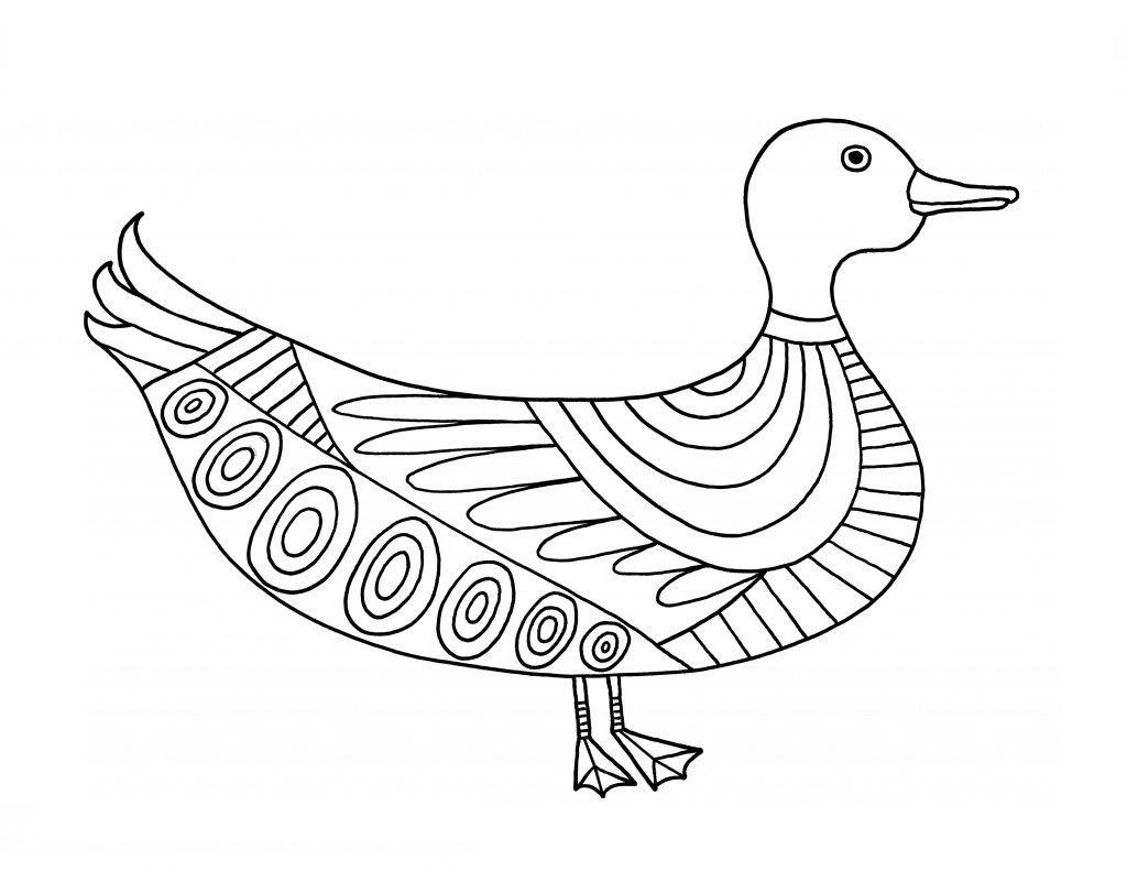 coloring image of duck duck template animal templates free premium templates of image coloring duck