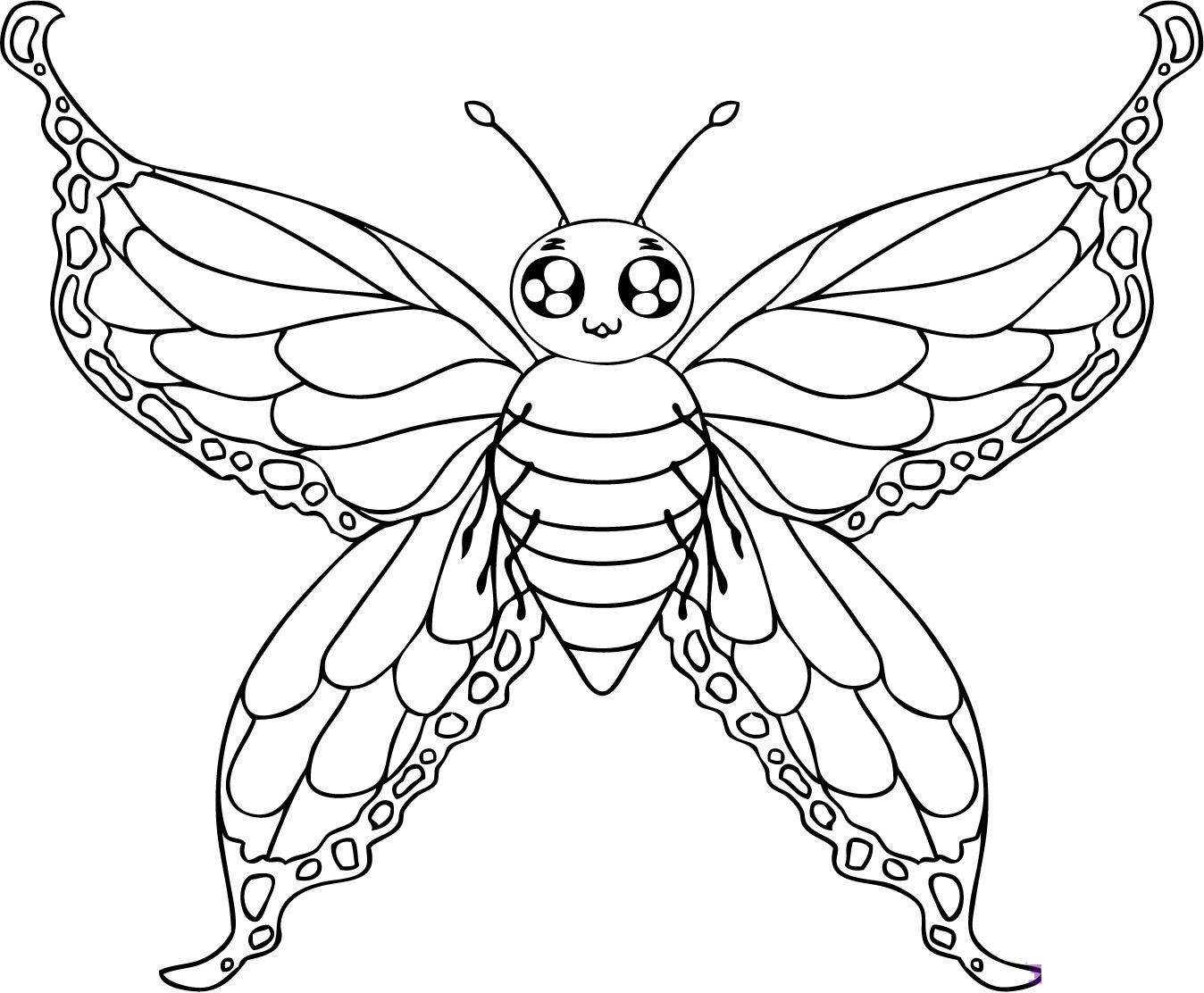 coloring images of butterfly cute butterfly coloring pages getcoloringpagescom butterfly coloring images of