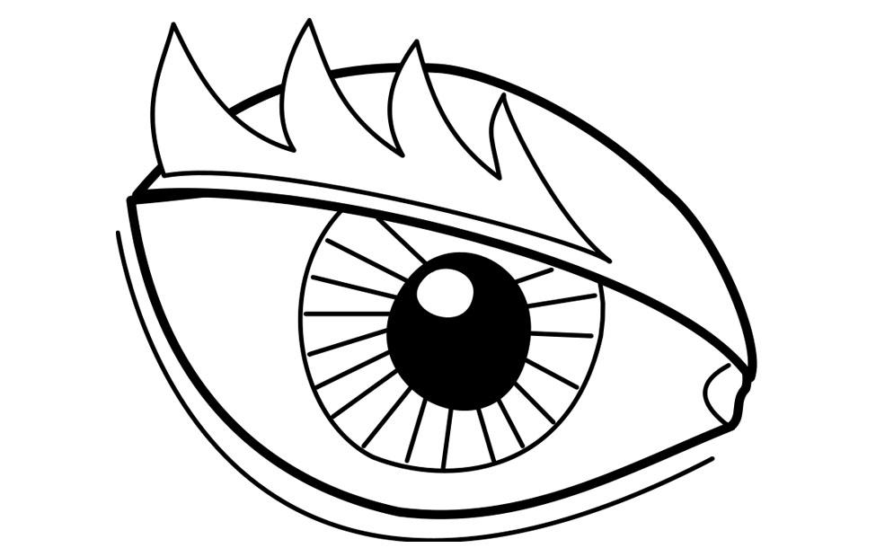 coloring images of eyes eye coloring page free download on clipartmag of eyes images coloring