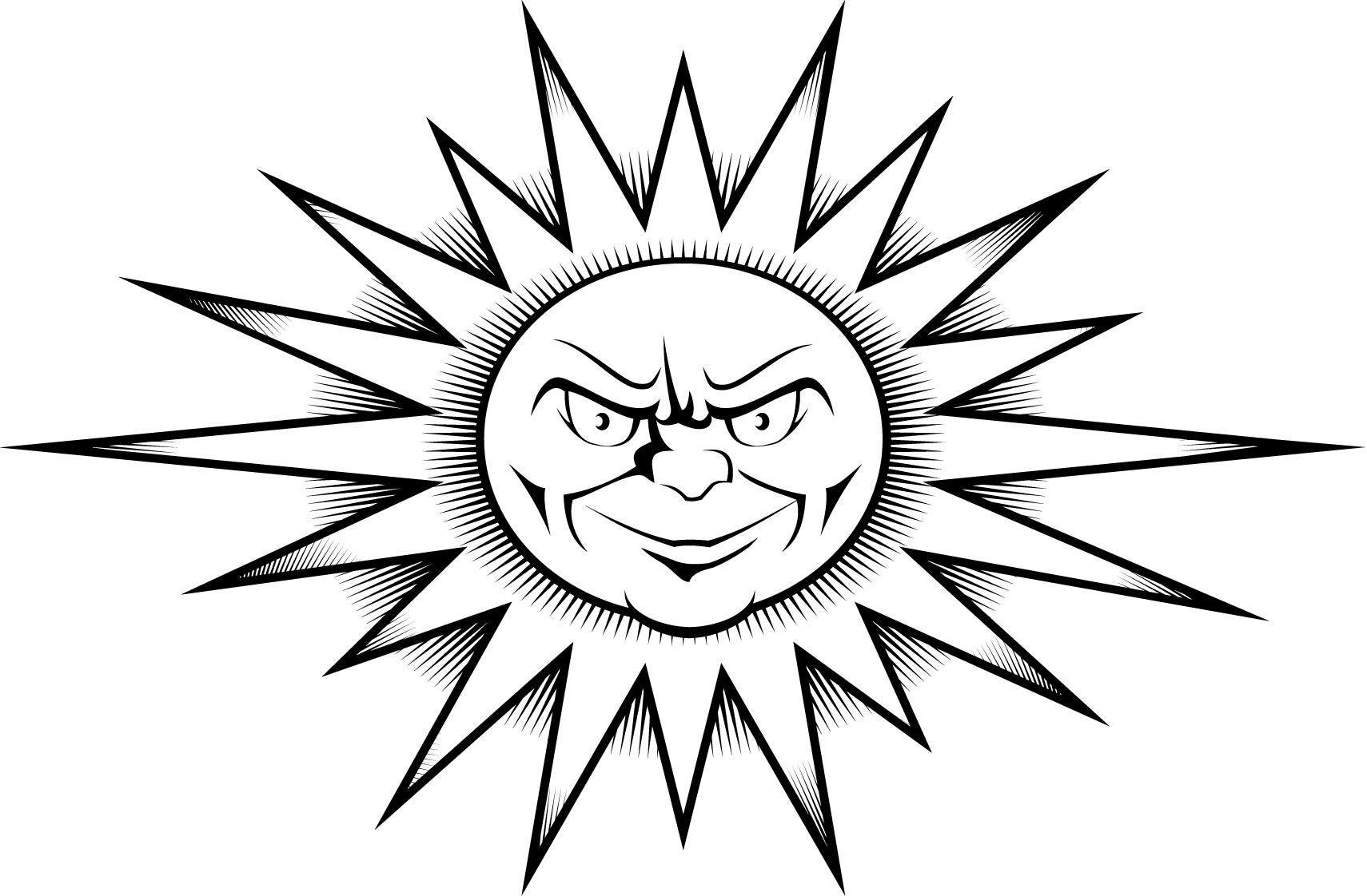 coloring images of sun 8 best images of printable sun clip art designs disney sun of coloring images