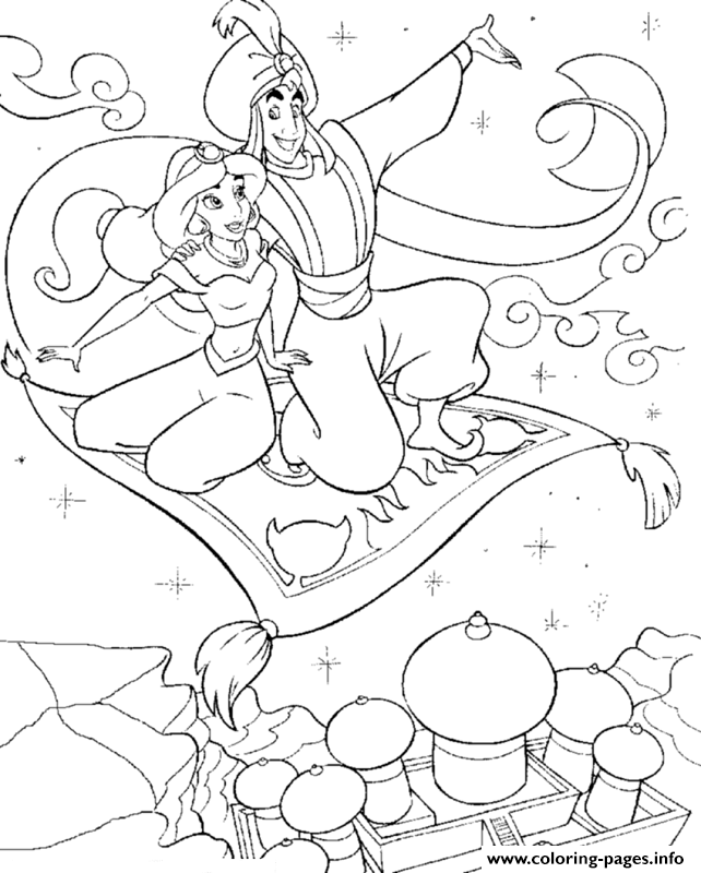 coloring jasmine on magic carpet magic carpet aladdin coloring pages clip art library on carpet magic coloring jasmine