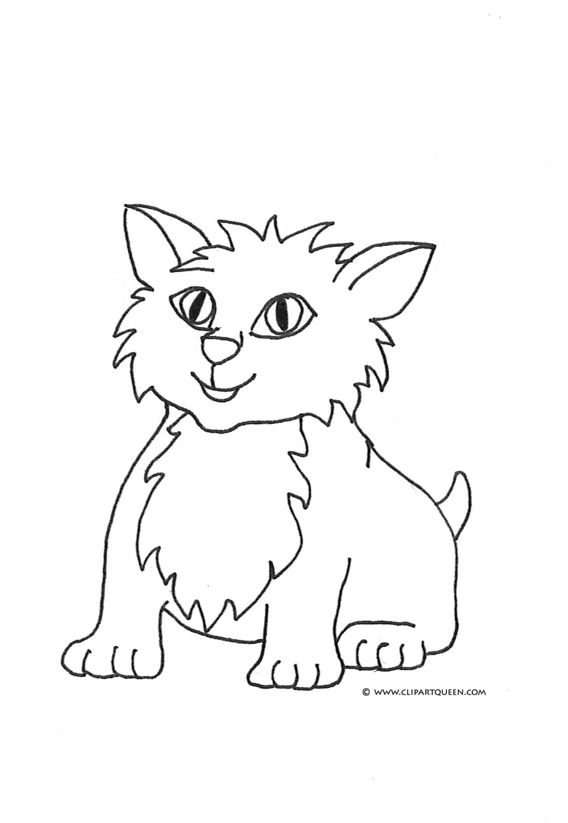 coloring kitty cat cat coloring pages coloring kitty cat
