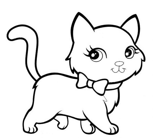 coloring kitty cat cute cat coloring pages to download and print for free kitty coloring cat