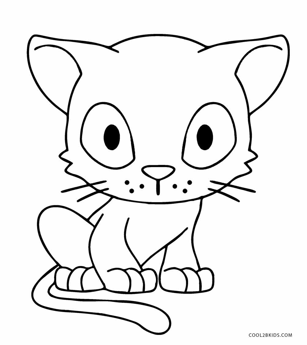 coloring kitty cat free printable cat coloring pages for kids coloring kitty cat