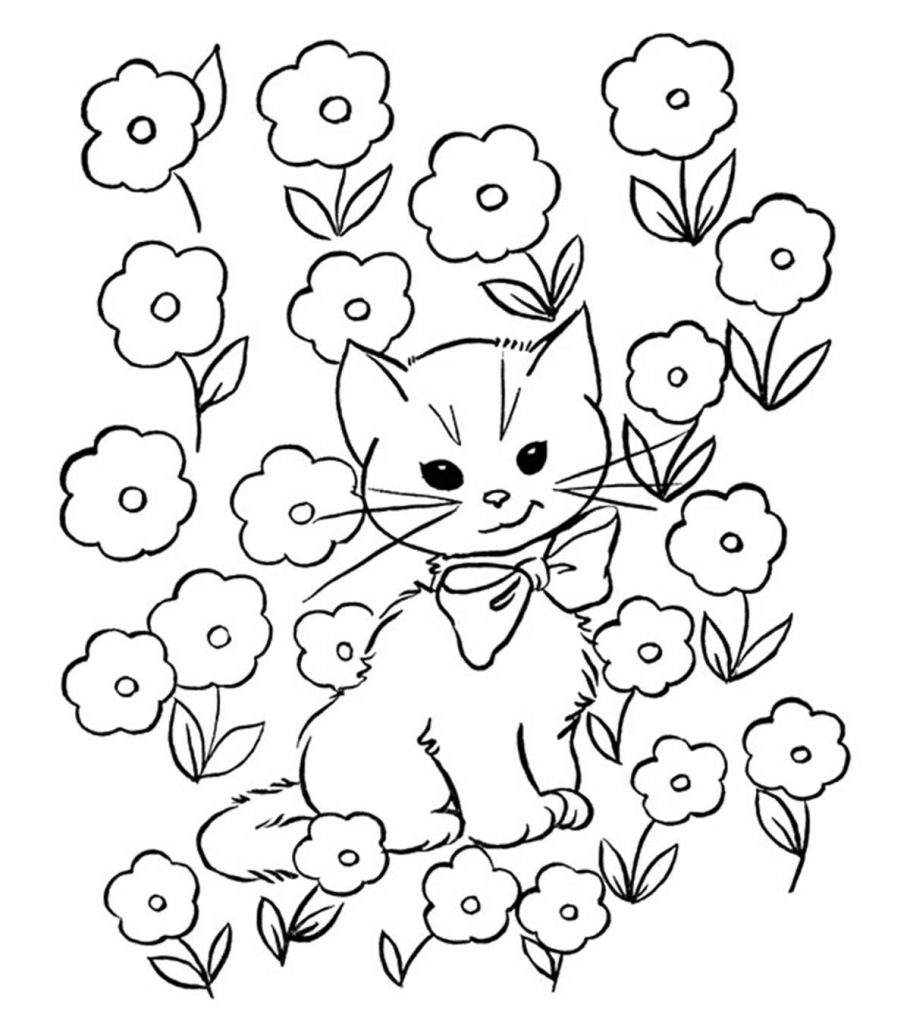 coloring kitty cat top 30 free printable cat coloring pages for kids kitty coloring cat