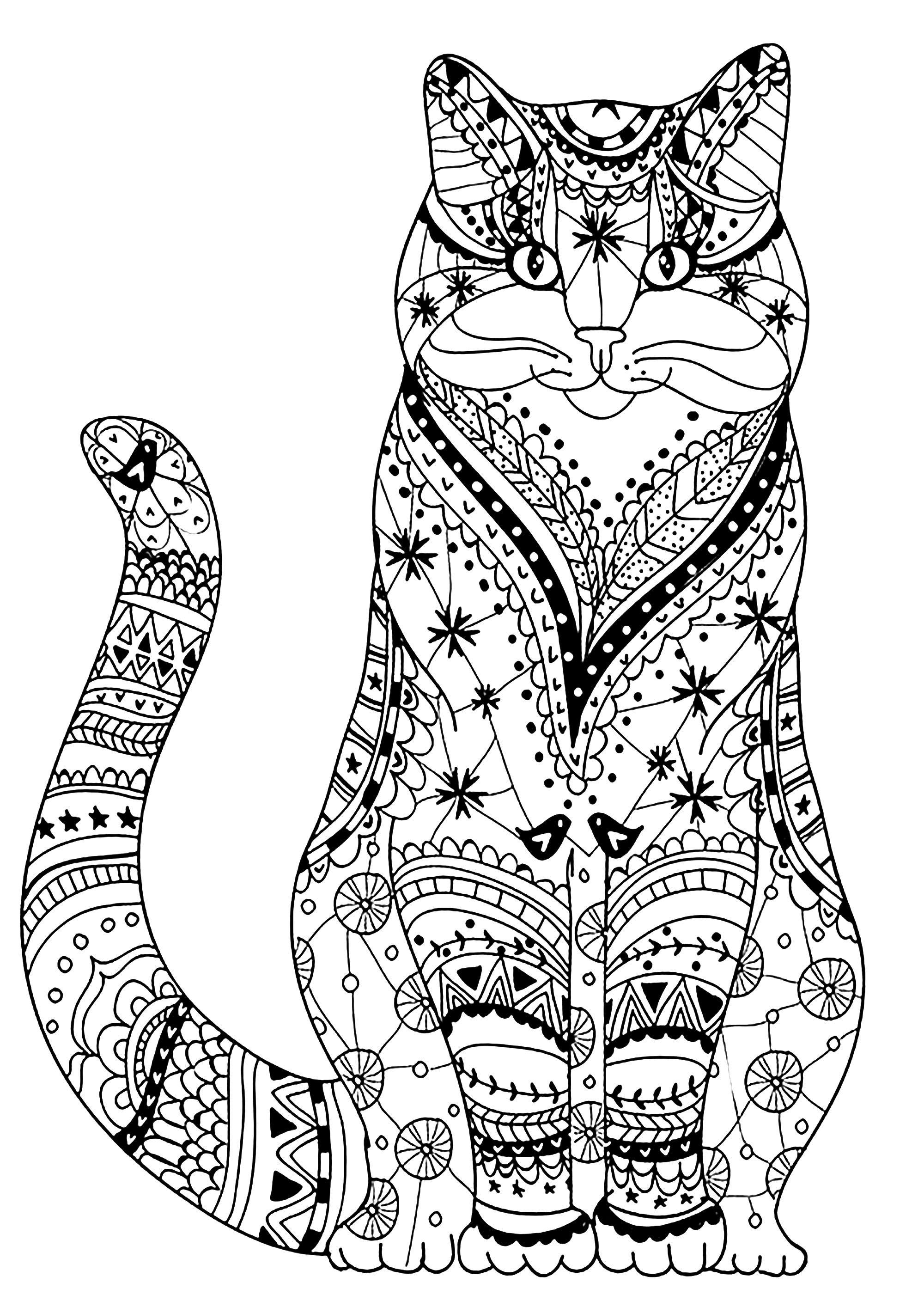 coloring kitty cat very wise cat cats adult coloring pages coloring kitty cat