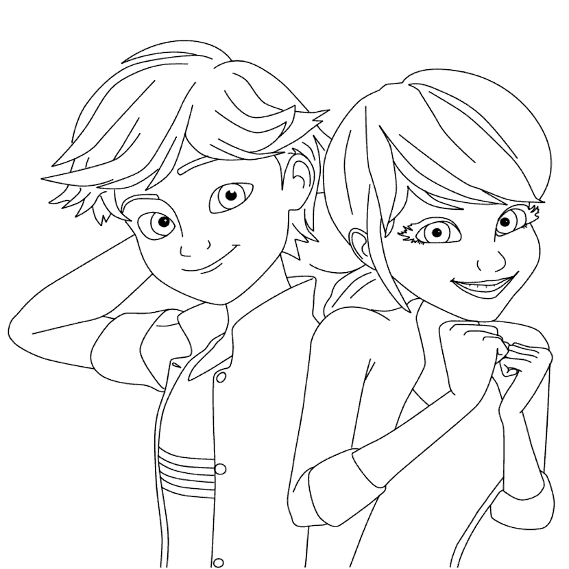 coloring ladybug and cat noir cat noir coloring page at getcoloringscom free cat ladybug coloring noir and