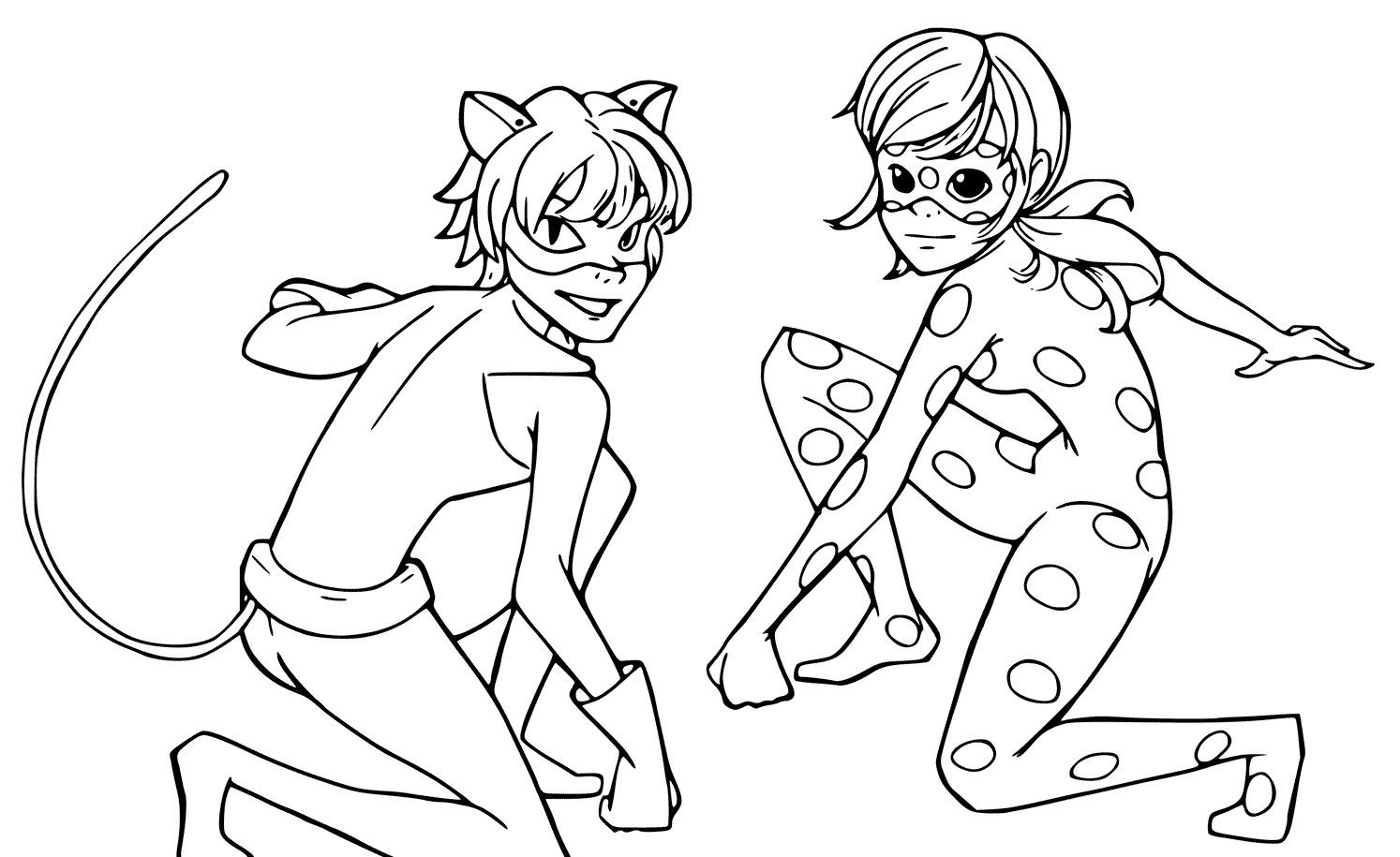 coloring ladybug and cat noir ladybug and cat noir are talking coloring pages printable ladybug and coloring cat noir