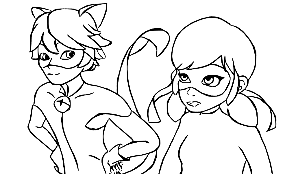 coloring ladybug and cat noir ladybug and cat noir coloring pages 140 printable ladybug cat coloring and noir