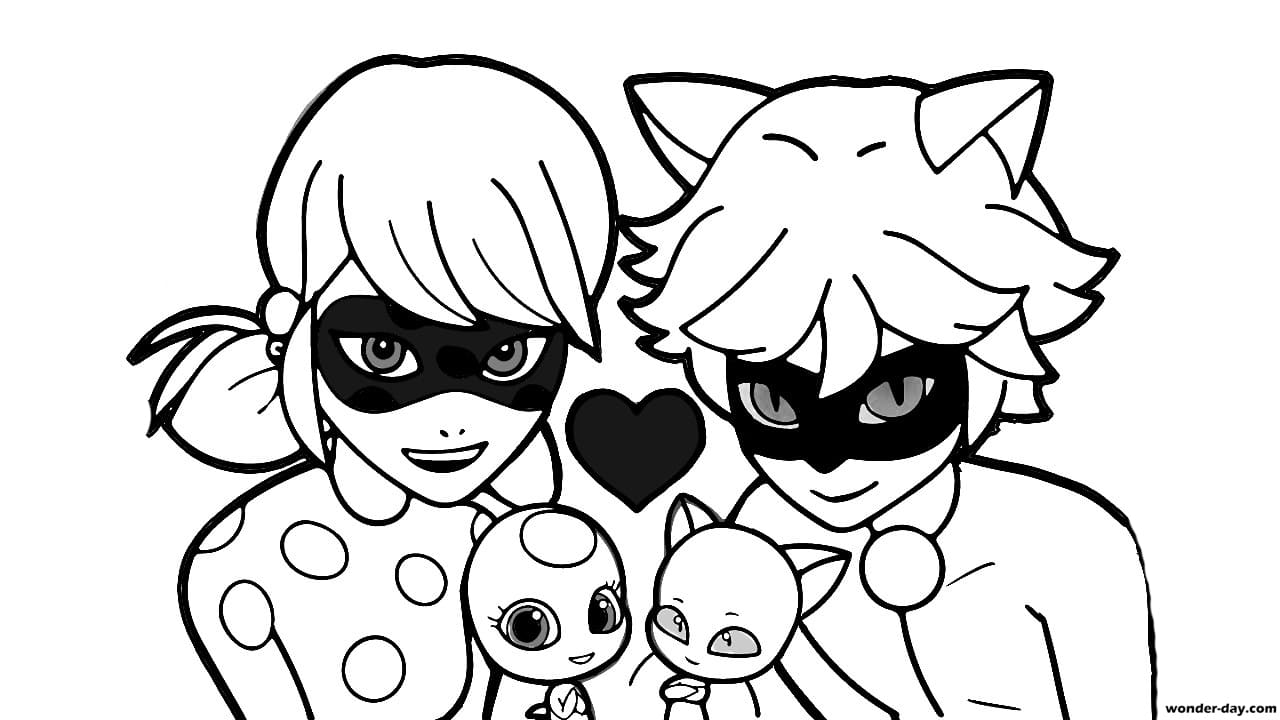 coloring ladybug and cat noir ladybug and cat noir coloring pages ladybug noir cat and coloring