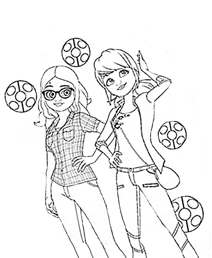 coloring ladybug and cat noir miraculous coloring pages at getdrawings free download ladybug noir cat coloring and